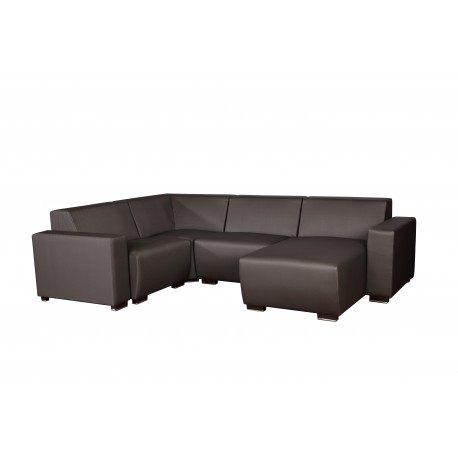 wypoczynkowe meble do małego ogrodu z dużą sofą