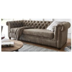Chesterfield Sofa Pikowana CHESTER 3 osobowa