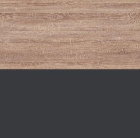 dąb sonoma + czarny mat